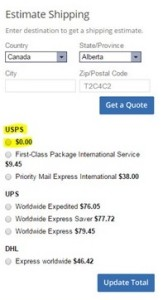 USPS Shipping Error for USA to Canada Shipping